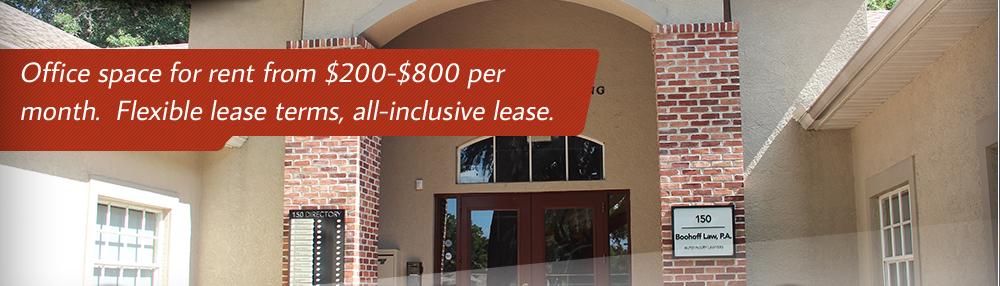 Office space for rent from $200-$800 per month. Flexible lease terms, all-inclusive lease.